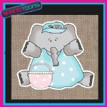 CUTE ELEPHANT DESIGN JUTE  SHOPPING LADIES GIFT BAG 004